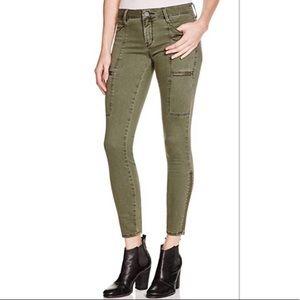 Pistola Hunter Olive Green Zipper Skinny Jeans